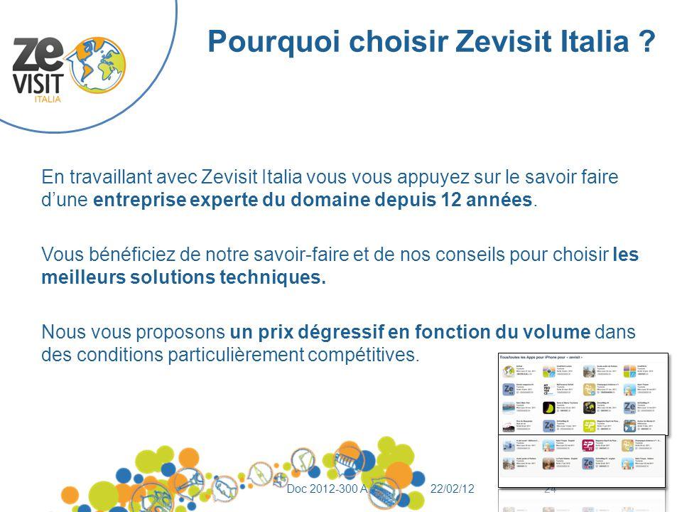 Pourquoi choisir Zevisit Italia ? En travaillant avec Zevisit Italia vous vous appuyez sur le savoir faire d'une entreprise experte du domaine depuis
