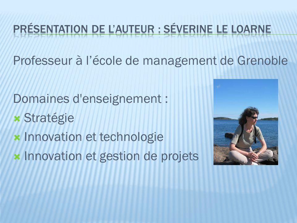  Compréhension du lien entre : Créativité individuelle Processus de développement d'un projet d'offre innovante Structure de l'entreprise