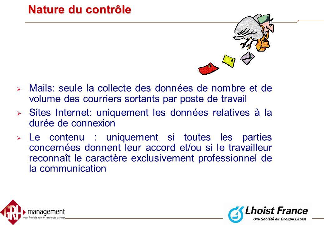 Procédure d' information  Procédure d' information collective  informer le CE sur  La ou les finalités poursuivies  La politique de contrôle et le