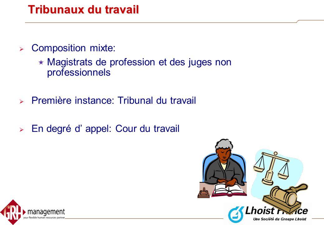 Organismes de contrôle  Ministère de l' Emploi et du Travail:  Inspection des lois sociales  Inspection technique  Inspection médicale  Ministère