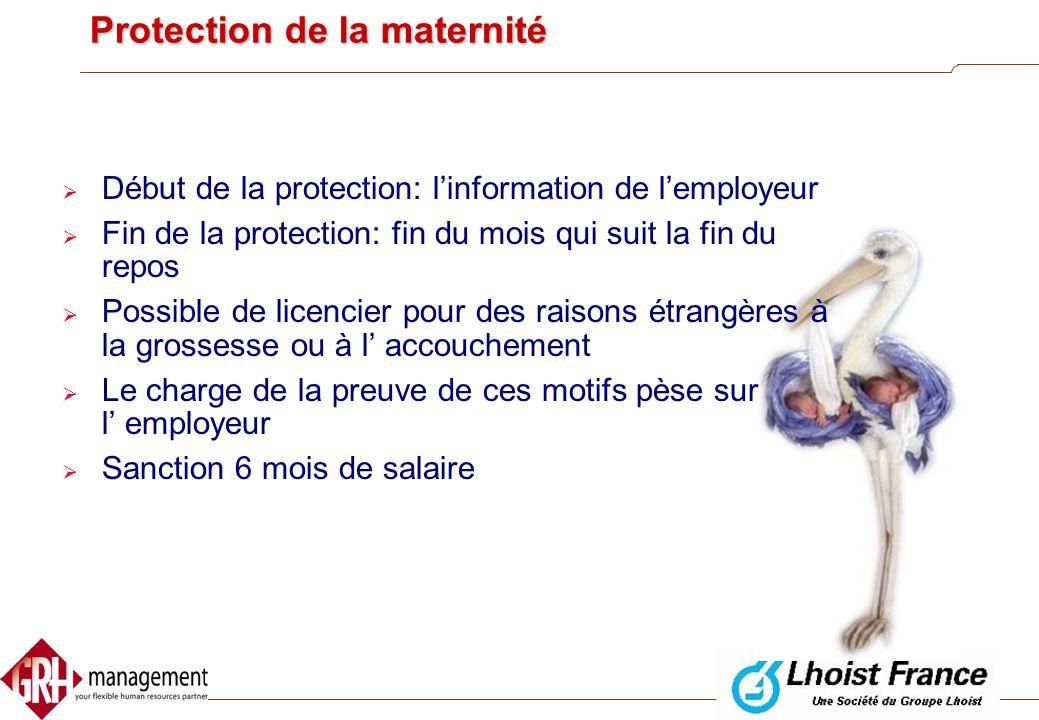 Une employée revient de ses congés de maternité et vous la licenciez trois semaines après. Est-ce qu'il y a une possibilité de la licencier sans devoi