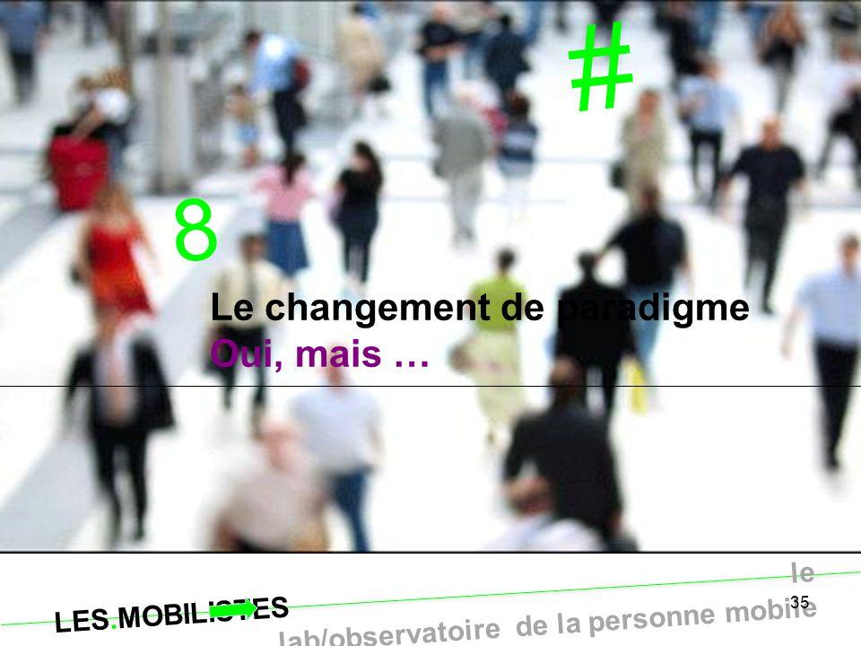 LES.MOBILISTES le lab/observatoire de la personne mobile 35 # 8 Le changement de paradigme Oui, mais …