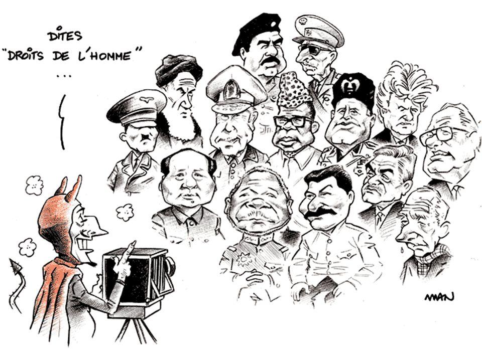 Saddam Hussein (1937-2006) Accusé de crimes de guerre, crimes contre l humanité et génocide envers les kurdes.