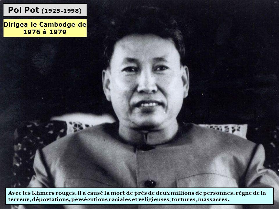 Augusto Pinochet (1915-2006) Dictature militaire, répression, violations des droits de l'homme, assassinats, des milliers de morts et torturés, arrest