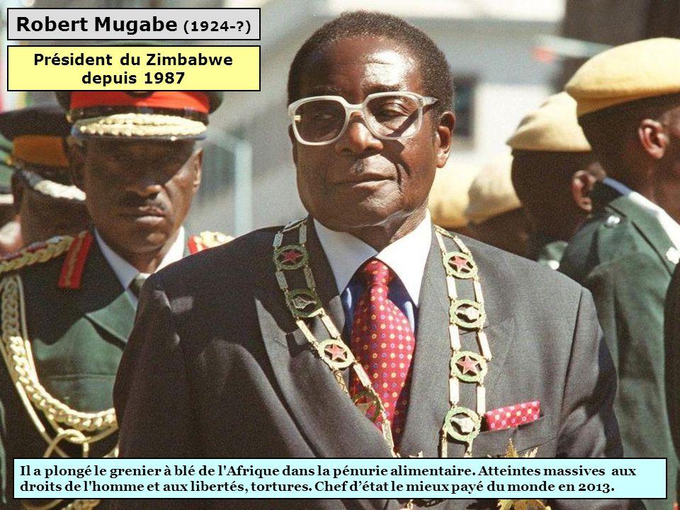 Mswati III (1968-?) Monarque absolu, voitures de luxe, fêtes décadentes, 13 femmes. Partis politiques interdits, presse « muselée », élections « bidon