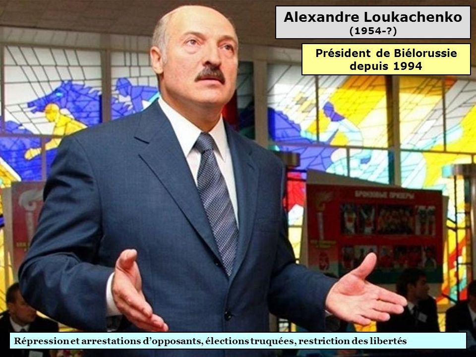 Slobodan Milosevic (1941-2006) Inculpé pour crimes de guerre, crimes contre l'humanité, génocide, violations majeures des droits de l'Homme (66 chefs