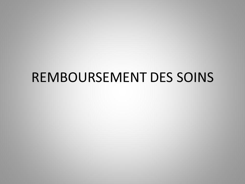 REMBOURSEMENT DES SOINS