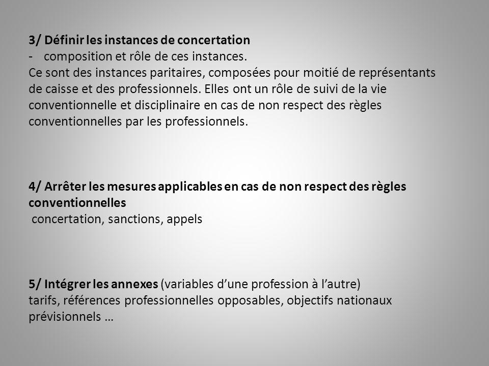 3/ Définir les instances de concertation -composition et rôle de ces instances. Ce sont des instances paritaires, composées pour moitié de représentan