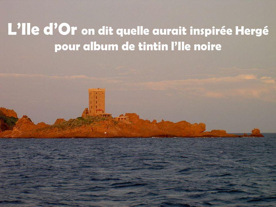 Le Lion de mer Une Vierge trône sur le sommet de l'île, et la pointe est occupée par des installations techniques