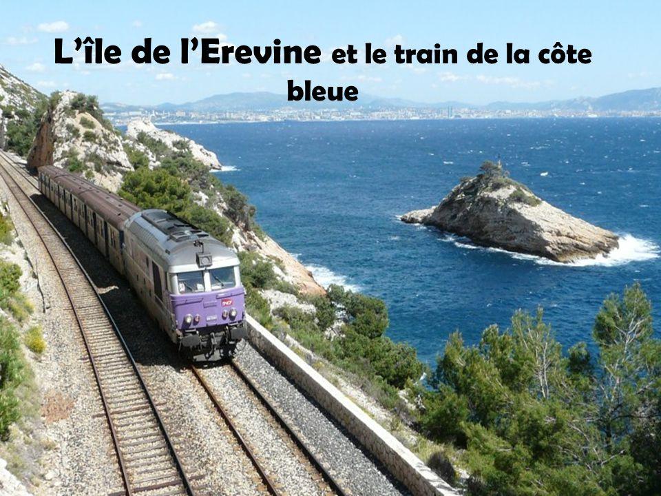 L'île de l'Erevine et le train de la côte bleue