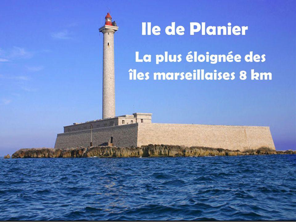Ile de Planier La plus éloignée des îles marseillaises 8 km