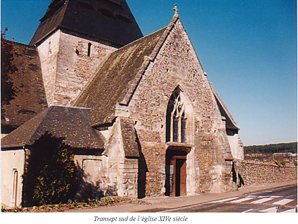 D. Transept sud de l'église XIVe siècle