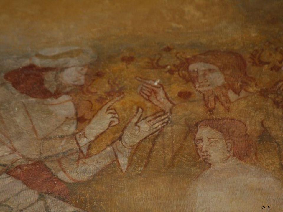 D. Fresque sur le mur sud de la nef, XIVe siècle