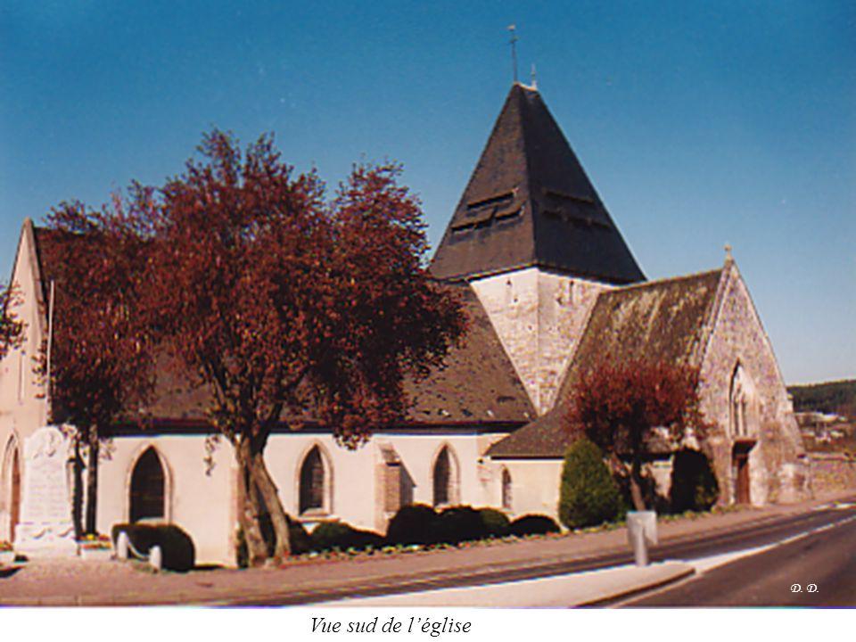 Vue sud de l'église D.