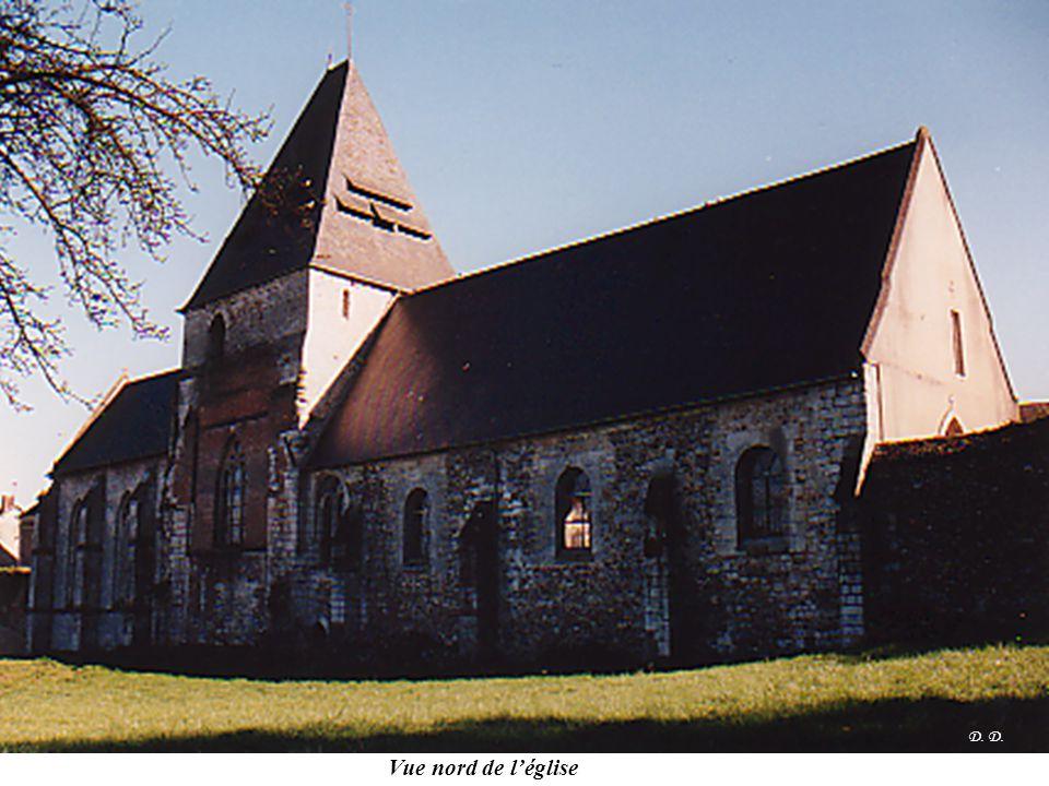 D. Vue nord de l'église