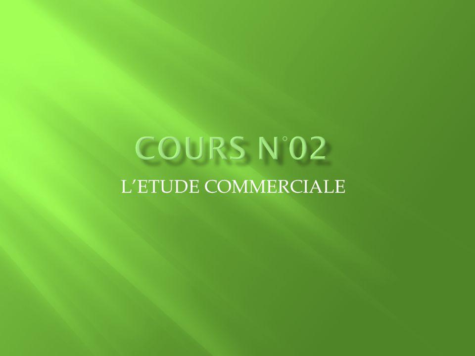 L'ETUDE COMMERCIALE