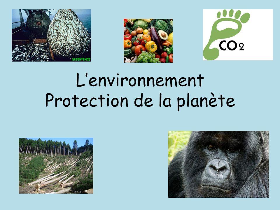 L'environnement Protection de la planète