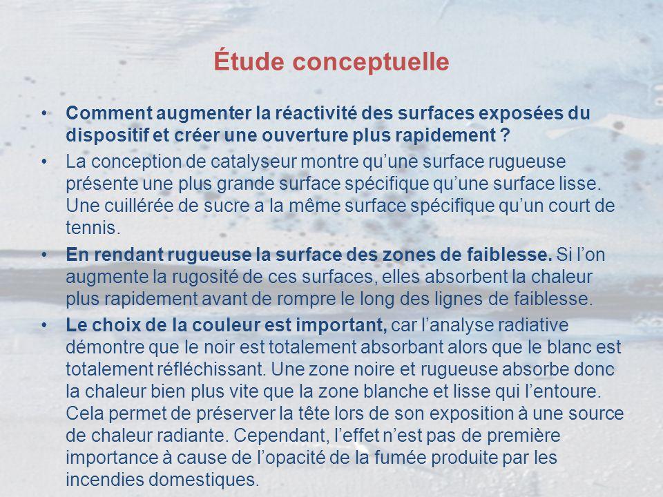 Étude conceptuelle Comment augmenter la réactivité des surfaces exposées du dispositif et créer une ouverture plus rapidement ? La conception de catal