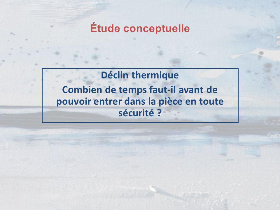 Étude conceptuelle Déclin thermique Combien de temps faut-il avant de pouvoir entrer dans la pièce en toute sécurité ?