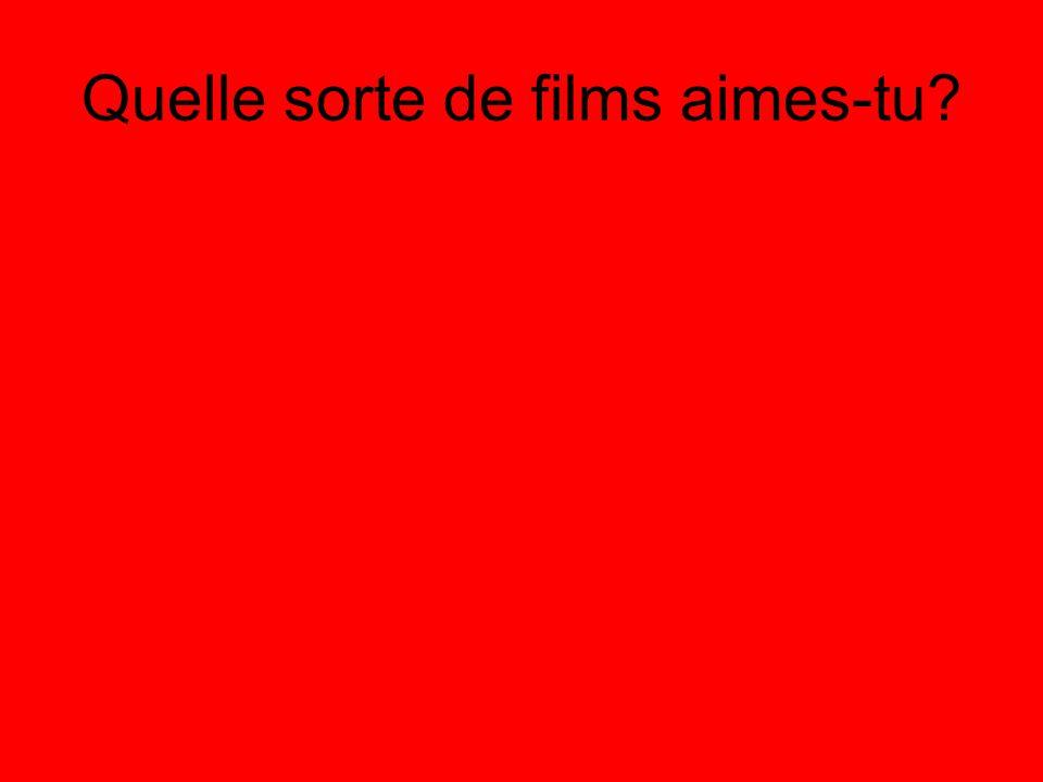 Quelle sorte de films n'aimes-tu pas?