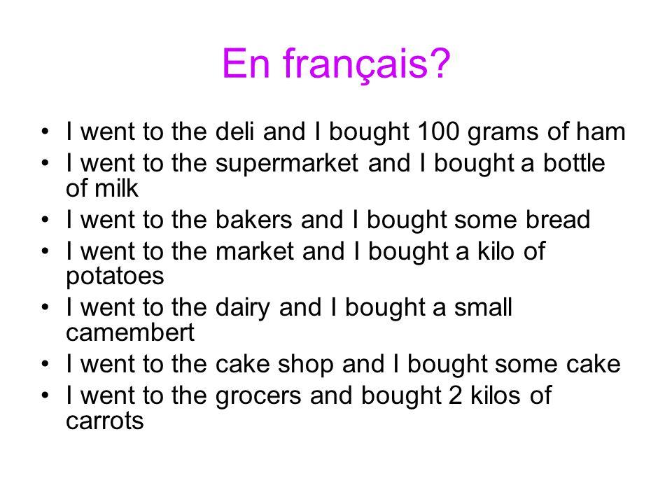 En français.