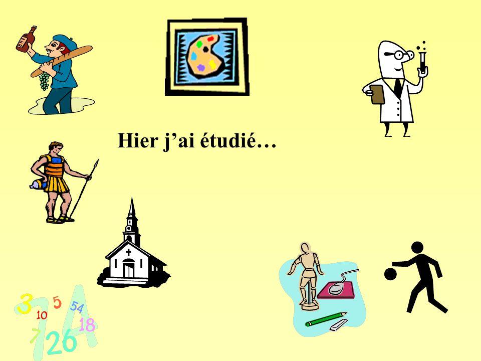 Le passé Take off the –er and replace it with –é Jouer  j'aijoué Etudier: j'ai étudié