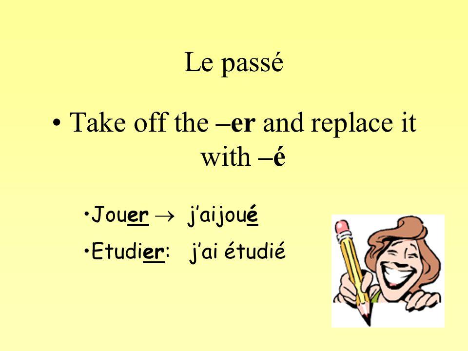 Regular –ir verbs Take off the -r Finir  j'ai fini