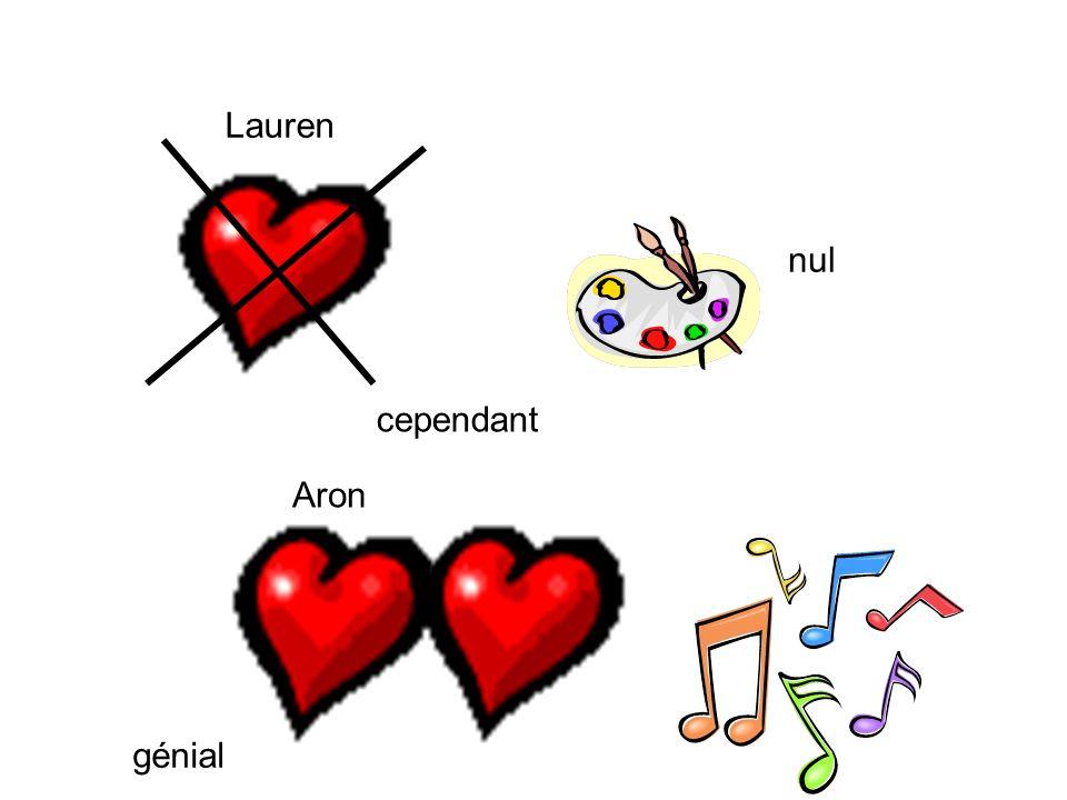 Lauren cependant Aron nul génial