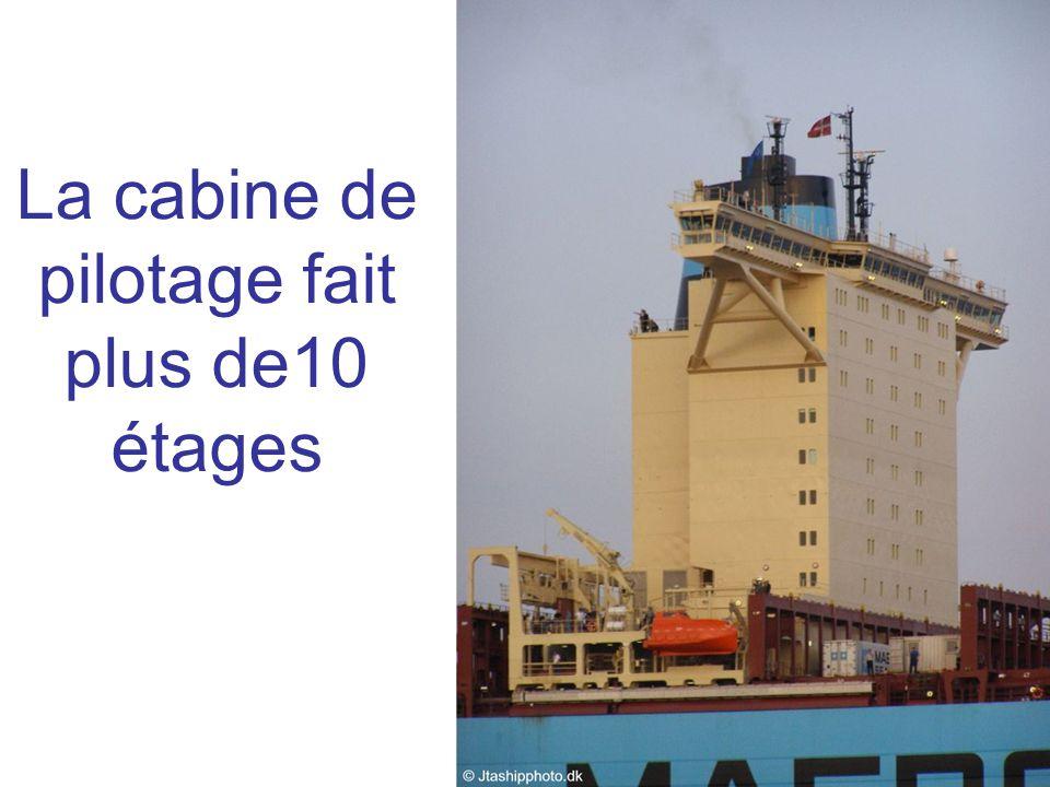 La cabine de pilotage fait plus de10 étages