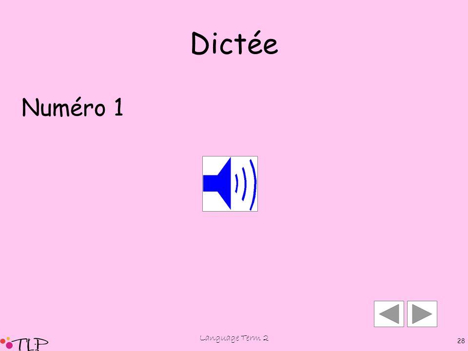 Language Term 2 27 Le, La, L'verb tricote danse chante nage vole saute adverb (place) adverb (time) aujourd'hui maintenant souvent quelquefois