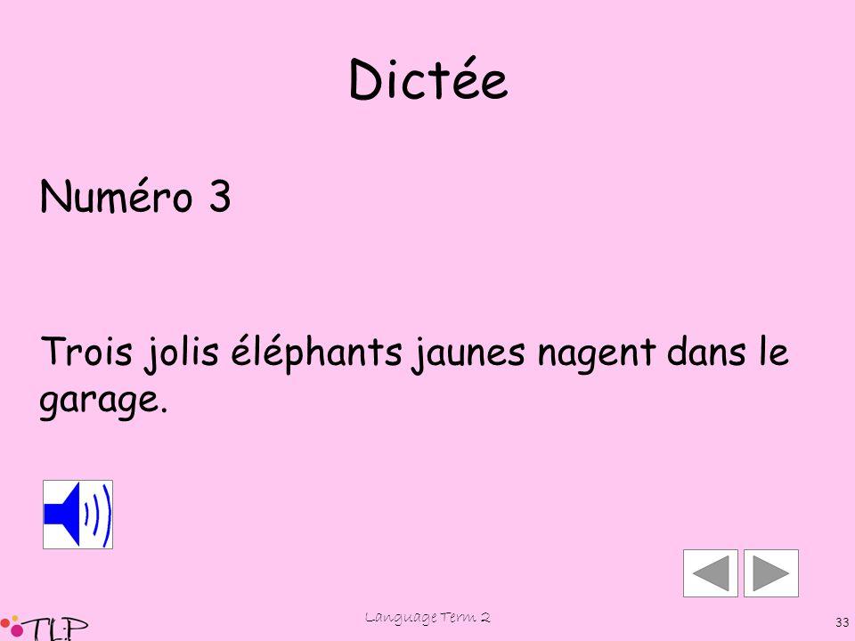 Language Term 2 32 Dictée Numéro 3