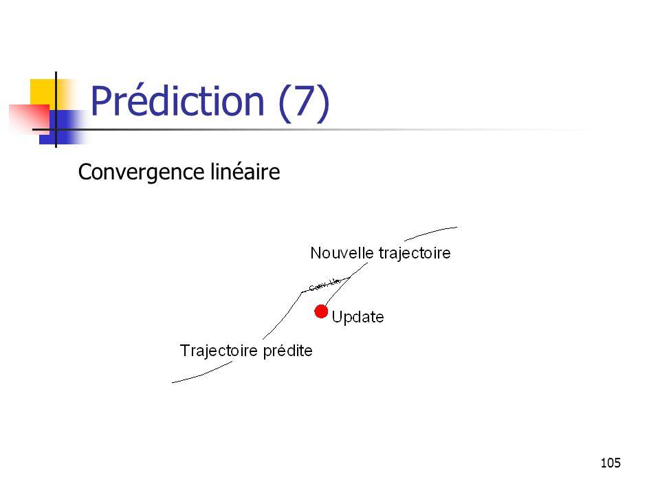 105 Prédiction (7) Convergence linéaire