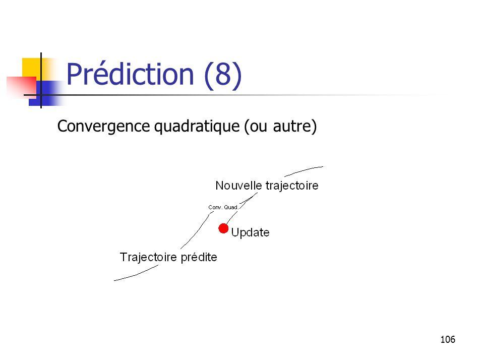 106 Prédiction (8) Convergence quadratique (ou autre)