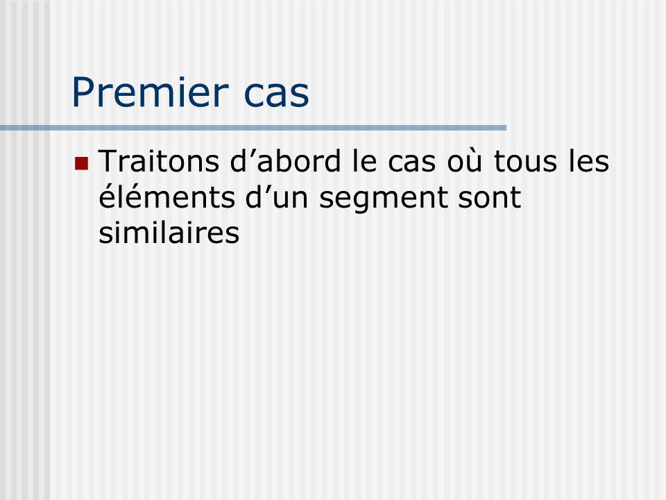 Premier cas Traitons d'abord le cas où tous les éléments d'un segment sont similaires
