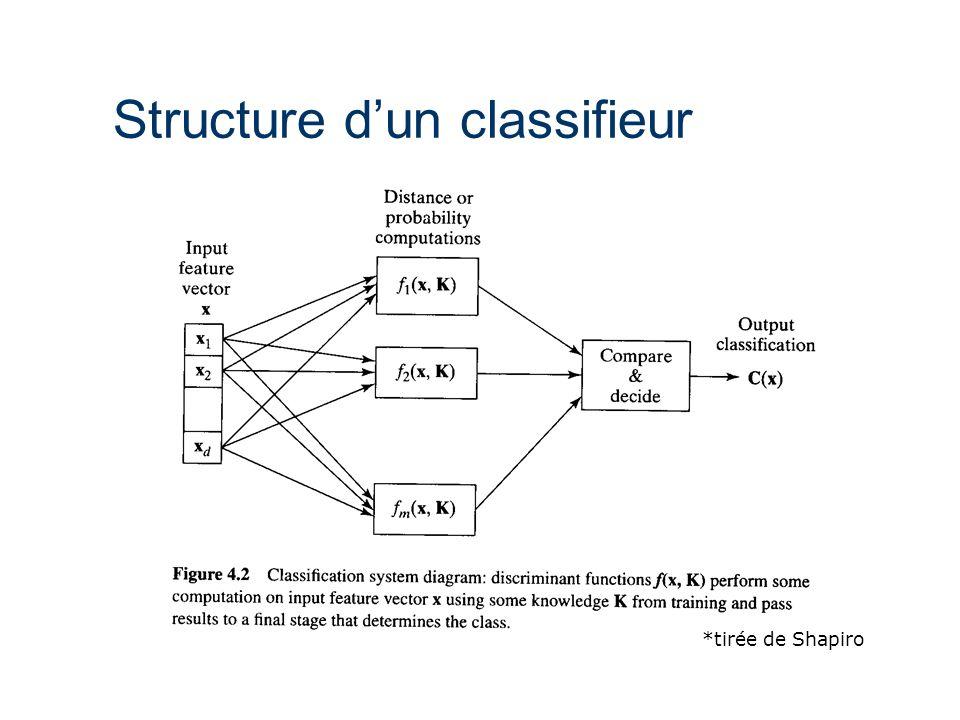 Structure d'un classifieur *tirée de Shapiro