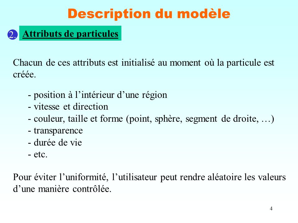 4 Description du modèle 2.