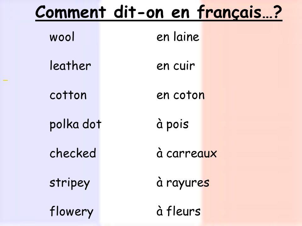 Comment dit-on en français….
