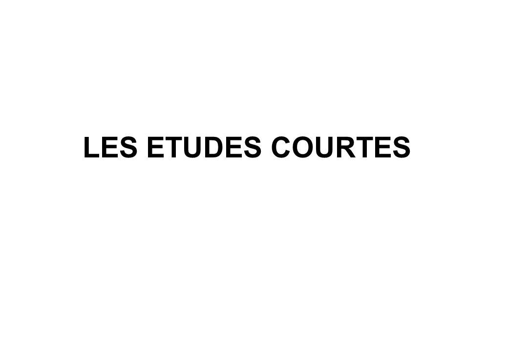 LES ETUDES COURTES