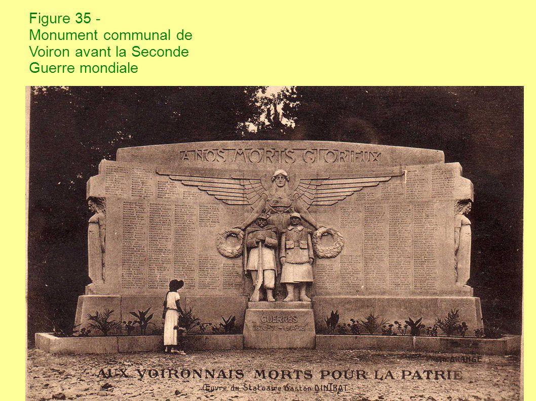 Figure 35bis - Monument communal de Voiron après la Seconde Guerre mondiale