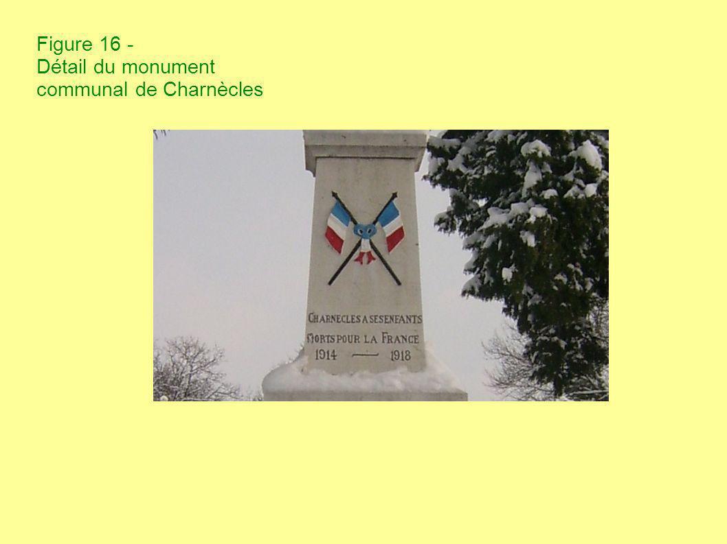 Figure 16 - Détail du monument communal de Charnècles