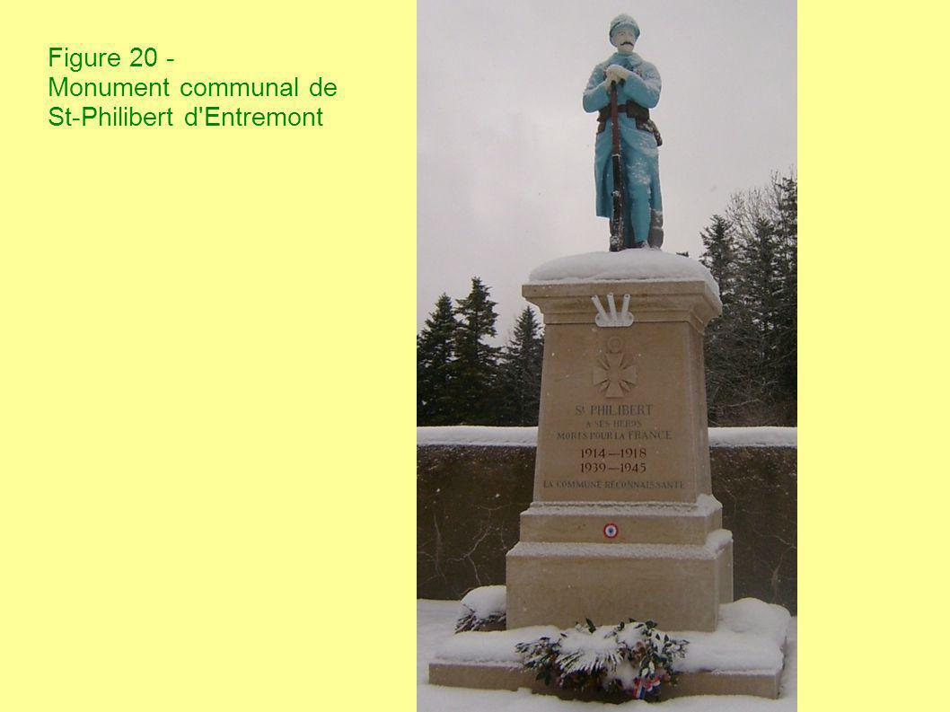 Figure 20 - Monument communal de St-Philibert d'Entremont