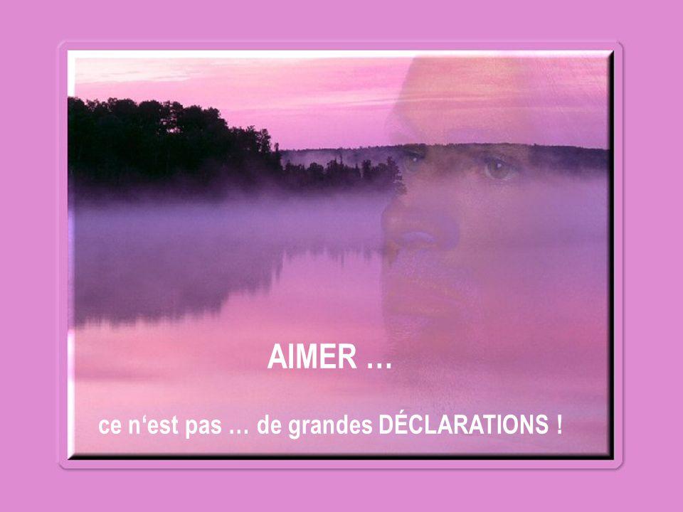 AIMER c est … dire « JE t'AIME » à un conjoint ( e ) … à un ( e ) AMI ( E ) … à un FRÈRE … à une SŒUR.