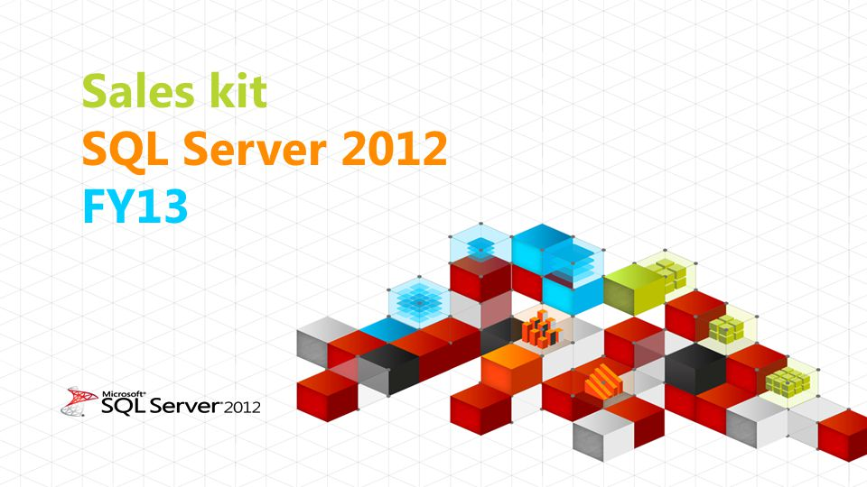 Sales kit SQL Server 2012 FY13