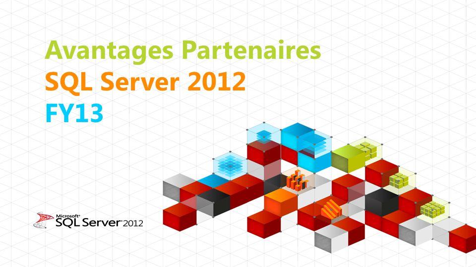 Avantages Partenaires SQL Server 2012 FY13