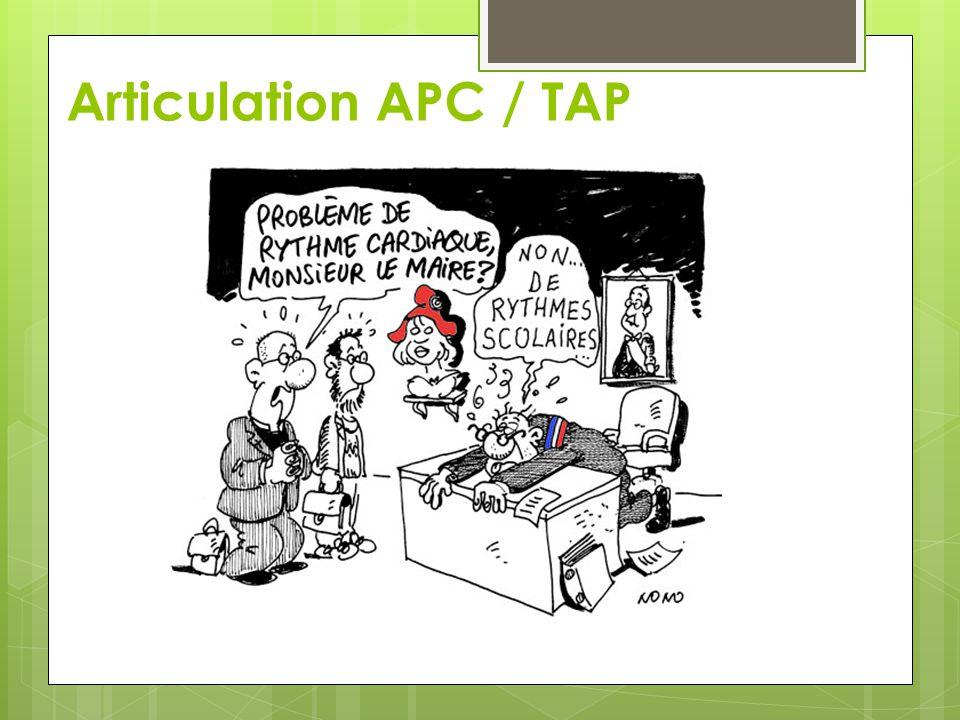 Cadrage des APC « L organisation générale de ces activités pédagogiques complémentaires est arrêtée par l'Inspecteur de l'Education Nationale de la circonscription, sur proposition du conseil des maîtres.