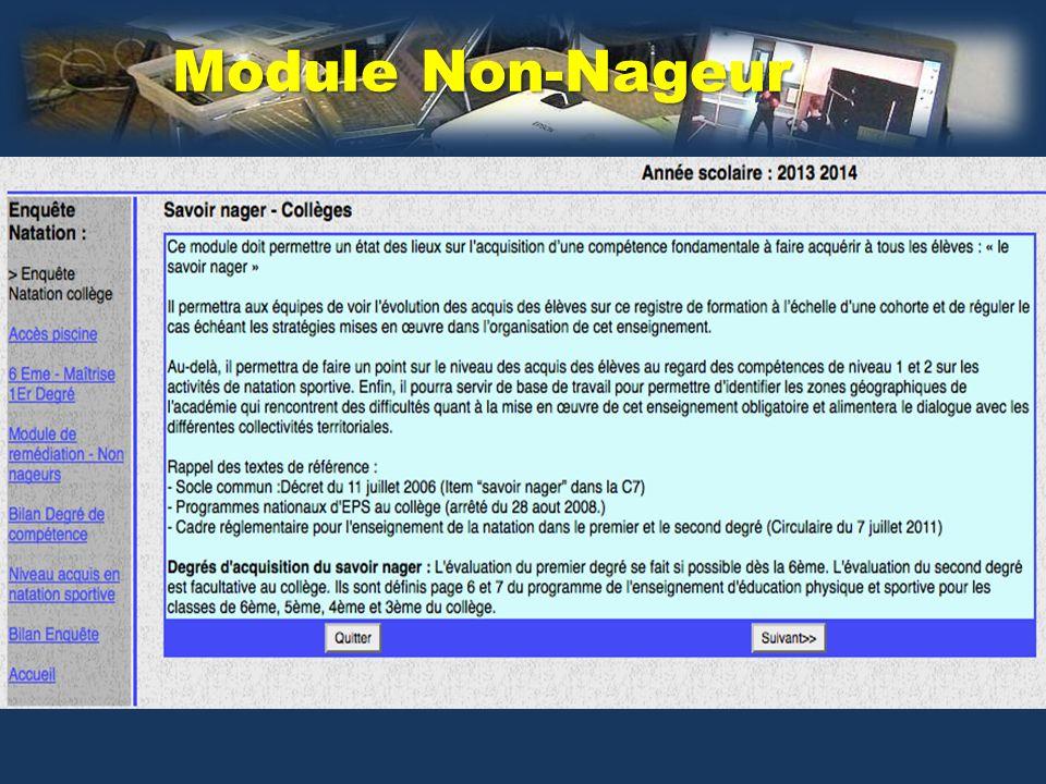 Module Non-Nageur