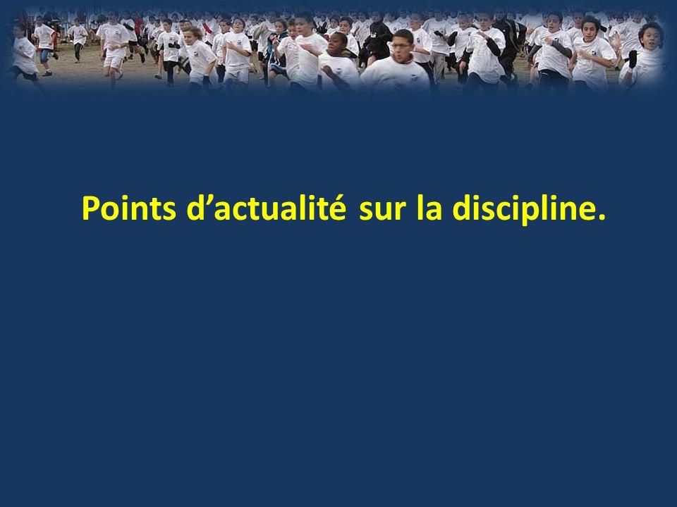Points d'actualité sur la discipline.