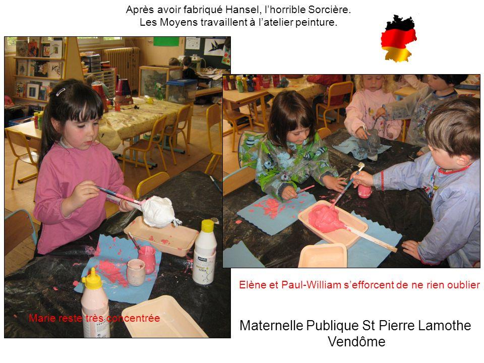 Iseult et Victor recouvrent la tête de la sorcière avec un joli gris… Petits, Moyens et Grands travaillent sur les drapeaux de l'Europe….