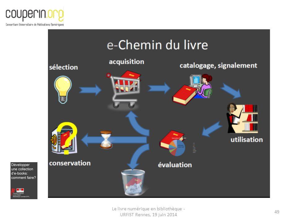Le livre numérique en bibliothèque - URFIST Rennes, 19 juin 2014 49