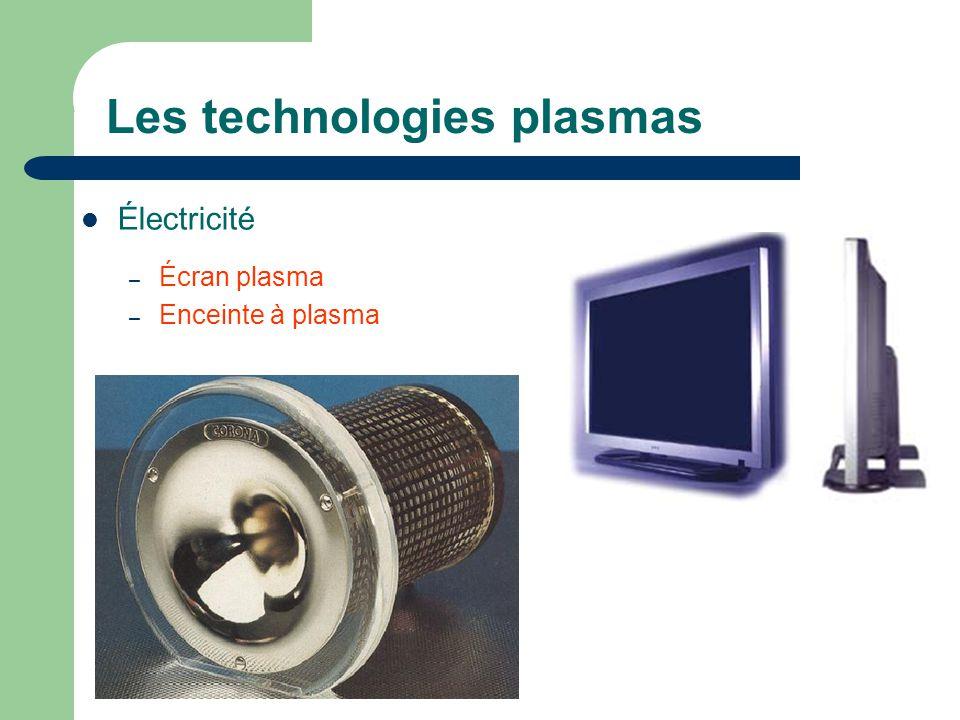 Les technologies plasmas Électricité – Écran plasma – Enceinte à plasma